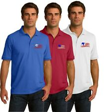 Trump Flag Polo Golf Shirt - Embroidered