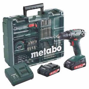 Metabo Akku-Bohrschrauber BS 18 Set Mobile Werkstatt 18V SC 60 Plus 2x2 Ah Akkus