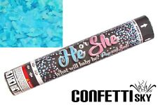 "12"" Gender Reveal Confetti Cannon Boy Blue Baby Shower Party POP SEE"