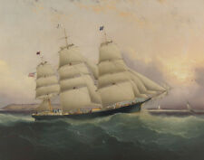 Buttersworth James The Clipper Ship Sunrise Print 11 x 14  #5812