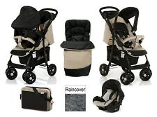 HAUCK SHOPPER SHOP N DRIVE TRAVEL SYSTEM AND ACCESSORIES ALMOND CAVIAR