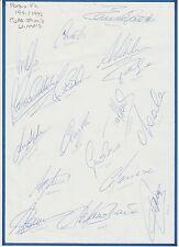 PARMA COPPA ITALIA vincitori 1992 mano originale firmata foglio A4 X 17 firme