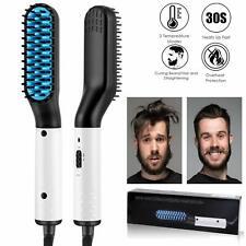 Multifunctional Quick Heat Beard Straightener Hair Comb Curling for Men NEW