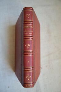 1844 Manuel de philosophie ancienne par Ch Renouvier  Tome1 reliure cuir