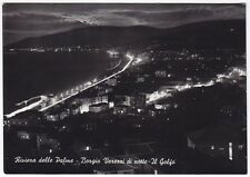 SAVONA BORGIO VEREZZI 28 NOTTURNO Cartolina FOTOGRAFICA VIAGGIATA 1963