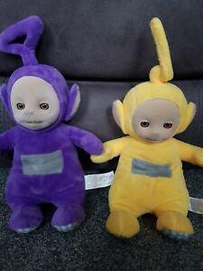 Teletubbies Laa Laa & Tinky Winky Talking Plush BBC CBEEBIES