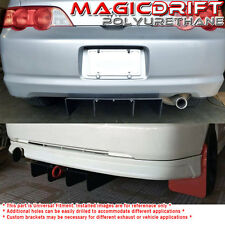 Universal fit JDM Rear Bumper Lower Aero Diffuser Black Aluminum Metal Plate