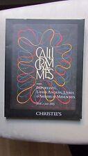 Catalogue de vente Christie's. Calligrammes. Paris Juin 2005. Livres, manuscrits