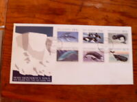 1988 ROSS DEPENDENCY NEW ZEALAND FIRST DAY COVER SET OF 6 STAMPS WHALES