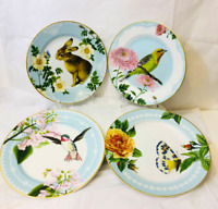 NWOT Williams Sonoma Spring Garden Collection Plates Set 4 Salad Luncheon