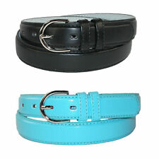 New CTM Women's Leather 1 1/8 Inch Dress Belt (Pack of 2 Colors)