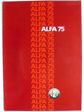 Prospekt Alfa Romeo 75 1.6, 1.8, 2.0, 2.5 QV, ca.1986, 8 Seiten, folder