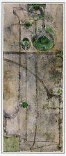 Stylised Plant Form Charles Rennie Mackintosh print in 10 x 12 inch mount SUPERB