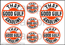 "Pair of Gulf 6/"" Vinyl Decals DC126B"