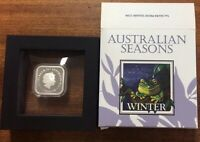 2013 Australian series Winter 1oz silver coin - torn box