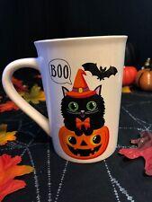 Halloween 14oz Coffee Mug Cat with Pumpkin