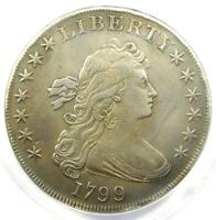 1799 Draped Bust Silver Dollar $1 Coin - Certified ANACS XF40 Details (EF40)!