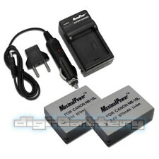 Charger + TWO Camera Batteries CANON NB-10L PowerShot G15 G16 G1 X HS BATTERY x2