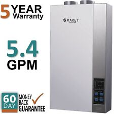 Refurbished Tankless Water Heater Natural Gas 5.4 GPM Direct Vent Marey 16ETL