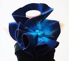 Scarf Dark blue & bright blue shibori scarf.