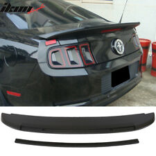 Fits 10-14 Ford Mustang Gt V6 Gt500 Style Unpainted Trunk Spoiler - Abs
