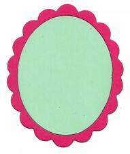 Sizzix Die Frame Oval Scallop Originals Photo Scrapbook Diecut Retired NEW Craft