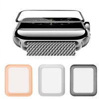 Full Cover Tempered Glass Screen Protector For 38/42mm Apple Watch iWatch 3 2 1