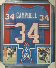 29faf595b Earl Campbell Houston Oilers Signed Framed matted football Jersey JSA COA