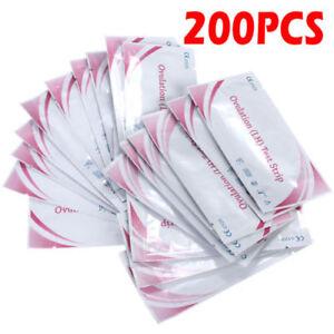 200Pcs Women LH Ovulation Test Paper Strip Urine Predictor Fertility Wholesale
