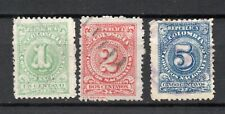 3 Vintage Colombia Stamps nice used