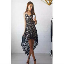 Womens Summer Fashion Sleeveless Lace Evening Party Cocktail Short Mini Dress