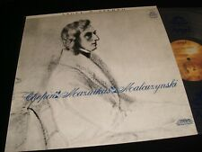CHOPIN°FIFTEEN MAZURKAS<>MALCUZYNSKI<>Lp VINYL<>USA Pressing<>ANGEL S 35726