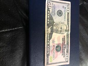 50 dollar bill star note 2013