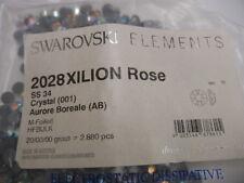 72 swarovski hot-fix flatbacks,34ss crystal AB/foiled #2028