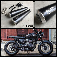 New listing Triumph T120 T100 Street Twin 900 Bonneville Exhaust System Pipe Slip On