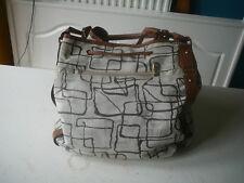 sac à mainArthur & Aston toile grise et marron