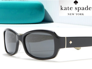 NEW* Kate Spade Adley Rectangle Black w Gray Gradient Womens Sunglass