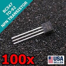 100pcs BC547 TO-92 NPN 45V 0.1A Transistor US Seller Fast Shipping
