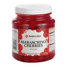 Maraschino Cherries - Members Mark 4 lbs 10 oz, With Stems, FREE Shipping in USA