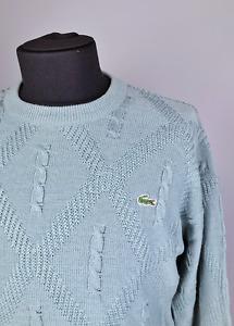 Men's Vintage 90s Chemise Lacoste Knited Crew Neck Mint Sweater Size 6 France