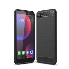 HTC Desire 12 Handy Tasche Case Cover Panzer Hülle Schutzhülle Handyhülle Carbon