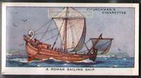 Ancient Roman Sail Ship 80 Y/O Ad Trade Card