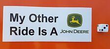 """John Deere Adesivo Decalcomanie 6 """"X 2.5"""" TRATTORE agricolo DIVERTENTE MOTO QUAD"""