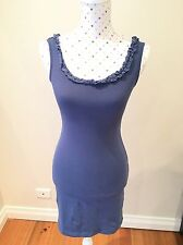 KOOKAI Dress Size 1 Stretch Short Cobalt Blue Cotton Sleeveless Casual Summer