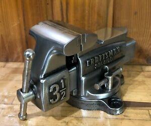Vintage Craftsman Bench Vise Pipe Clamp Vice Mechanics Tool, Gun Smith Machinist