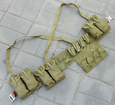 SURPLUS WEBBING VIETNAM WAR CHINESE TYPE 63 AUTO CHEST RIG AMMO POUCH-L0086