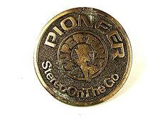 Vintage PIONEER Stereo On The Go Brass Belt Buckle By GABC 81616
