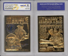 1996 MICKEY MANTLE Commerce Comet NY YANKEES 23K GOLD CARD - GRADED GEM-MINT 10