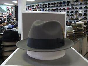 STETSON SAXON CARIBOU FUR FELT FEDORA DRESS HAT
