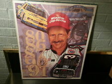 """""""FIVE GOLDEN YEARS"""" 20X24"""" by Sam Bass Autographed by Dale Earnhardt."""
